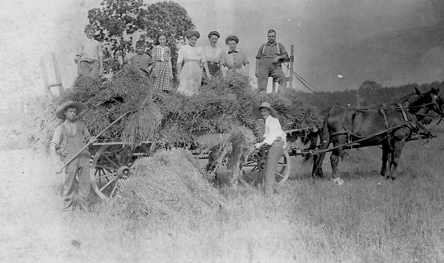 Athens, NY, Greene County - Farm Family & Hay Wagon
