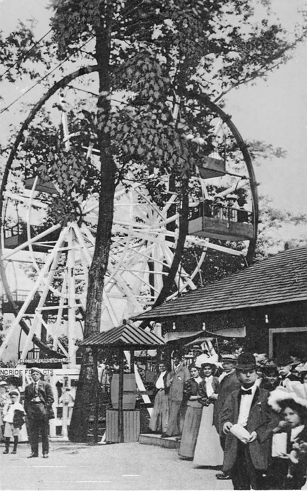 Ferris Wheel at Electric Park, Kinderhook NY, Columbia County c1909