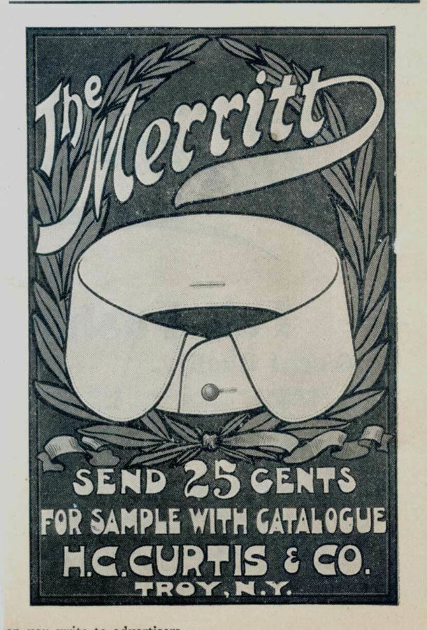 Ad For H.G. Curtis & Co Detachable Collars, Troy NY, c1899