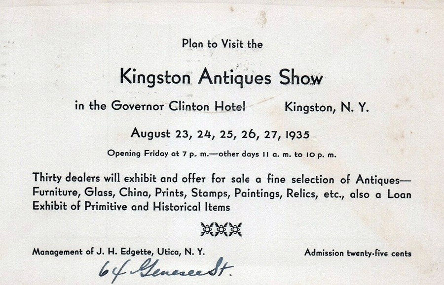 Kingston NY - Vintage Antique Show Advertisement