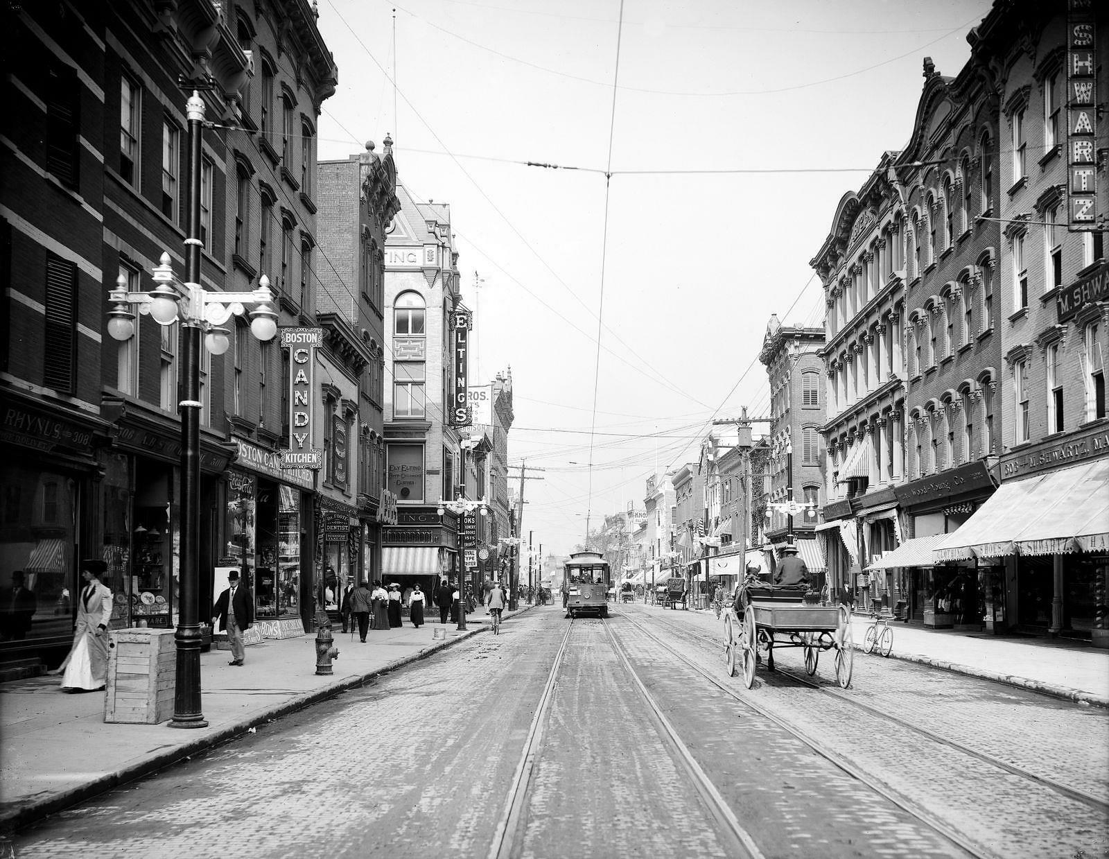 Main Street, Poughkeepsie NY, Dutchess County, Early 1900s