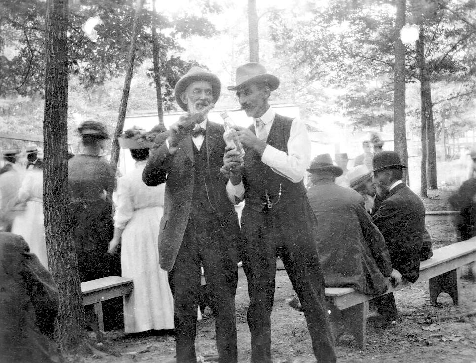 Men Sharing A Drink, New Hampton NY, Orange County c1910