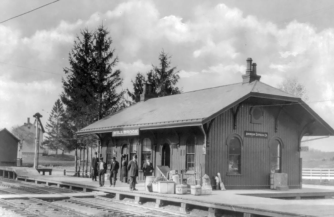 Railroad Station, Millbrook NY, Dutchess County c1910