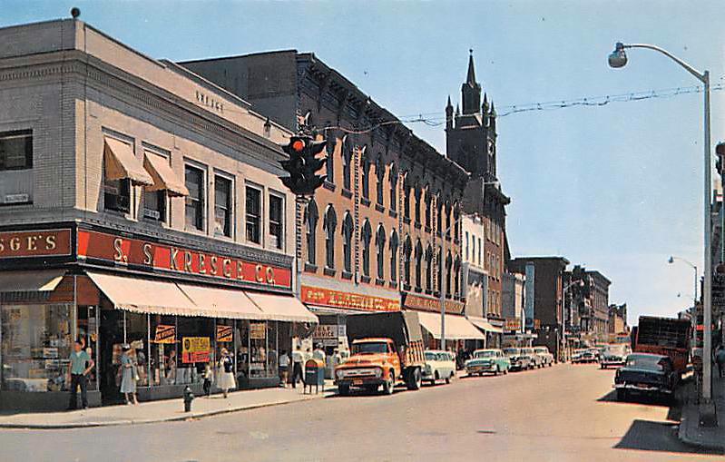 Remsen Street, Cohoes NY, Albany County 1950s