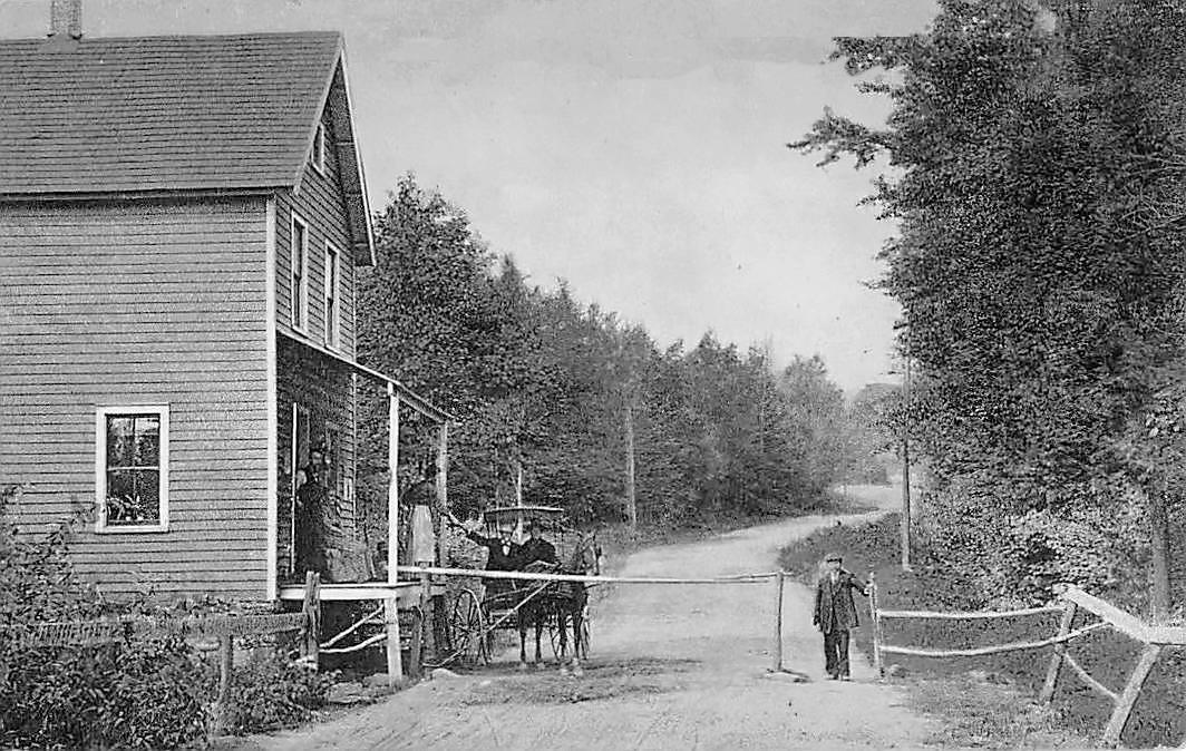 Toll Gate Between Fallsburg & Woudbourne NY, Sullivan County c1908