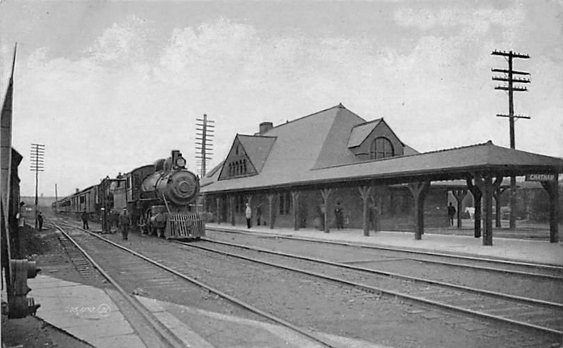 Train-Station-Chatham-NY-Columbia-County-c1910
