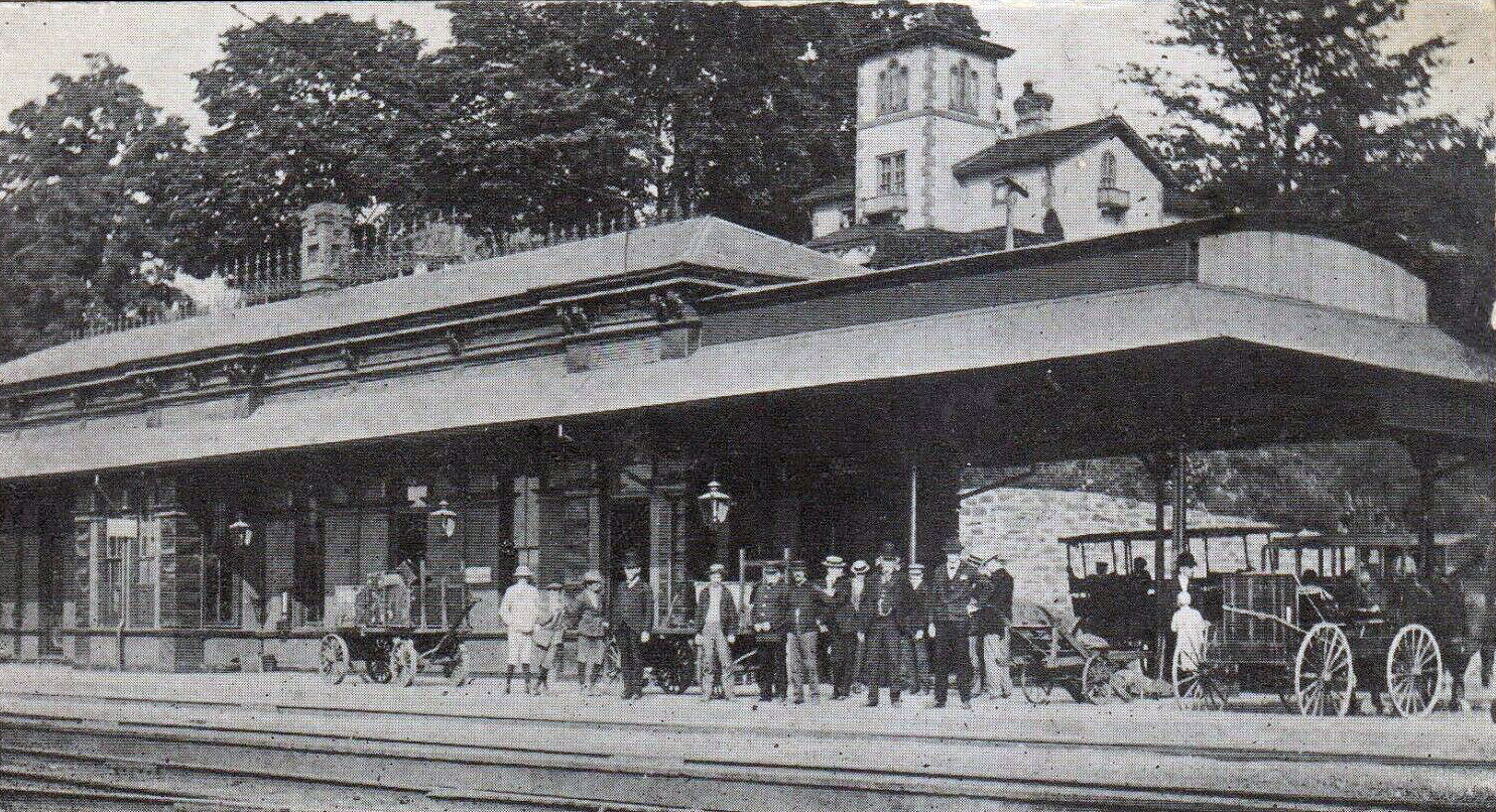 Train Station, Rhinecliff NY, Dutchess County c1908
