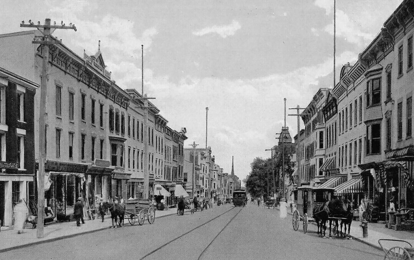 Warren Street, Hudson NY, Columbia County c1910